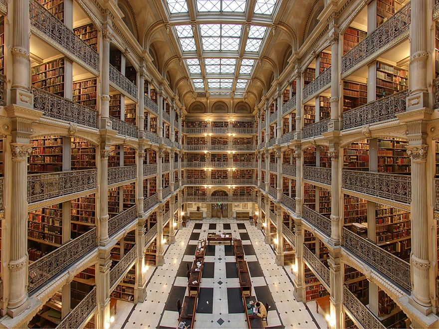 George Peabody Library, Baltimore, Maryland, Usa