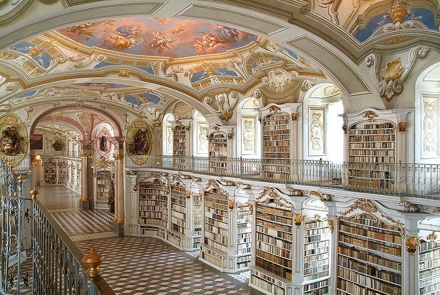 The Admont Library, Admont, Austria
